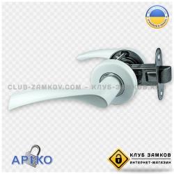 Дверная ручка Арико 114-5 с защелкой (белая)
