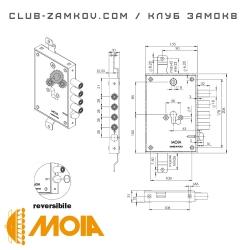 Схема замка MOIA 664/280DFB
