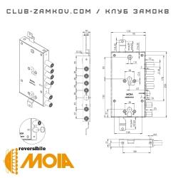 Схема замка MOIA 6654/280DFB/S2