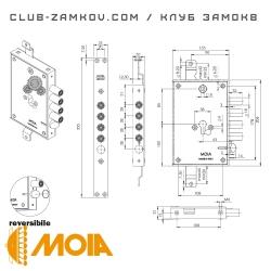 Схема замка MOIA 764/280DFB
