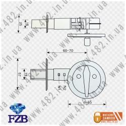 Дверной засов fzb 105