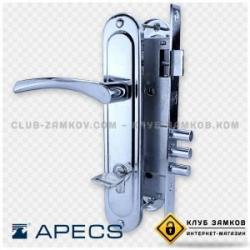 Врезной замок Апекс 220 с ручками + цилиндр 70 к/к